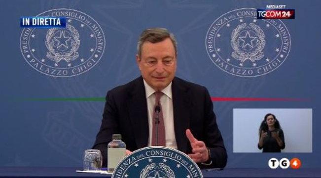 """Covid, Draghi: """"Appello a non vaccinarsi è un appello a morire"""". """"La variante Delta è minaccia a ripresa"""""""