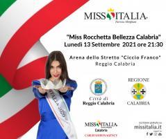 Miss Italia continua…il 13 settembre con l'elezione di Miss Rocchetta Bellezza Calabria